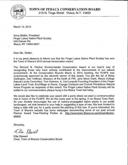 image of award letter